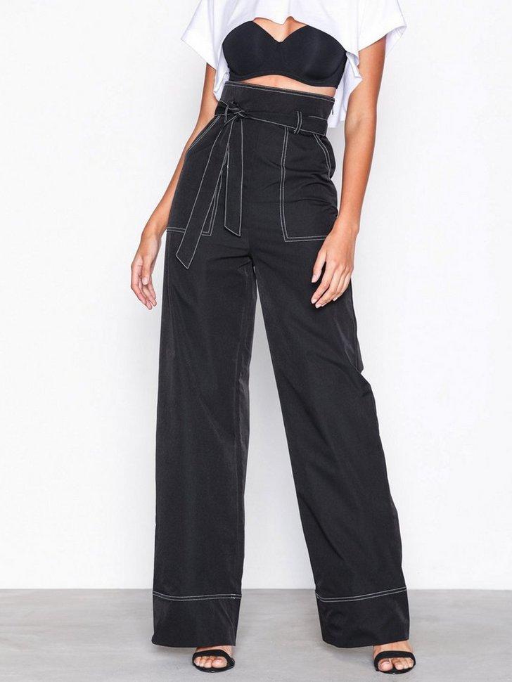Nelly.com SE - Contrast Tie Waist Wide Leg Trousers 398.00