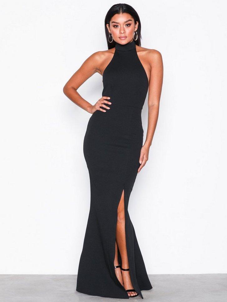 High Neck Maxi Dress køb festkjole