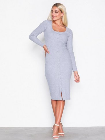 Missguided - Popper Midi Dress
