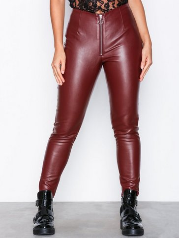 Missguided - Faux Leather Trousers