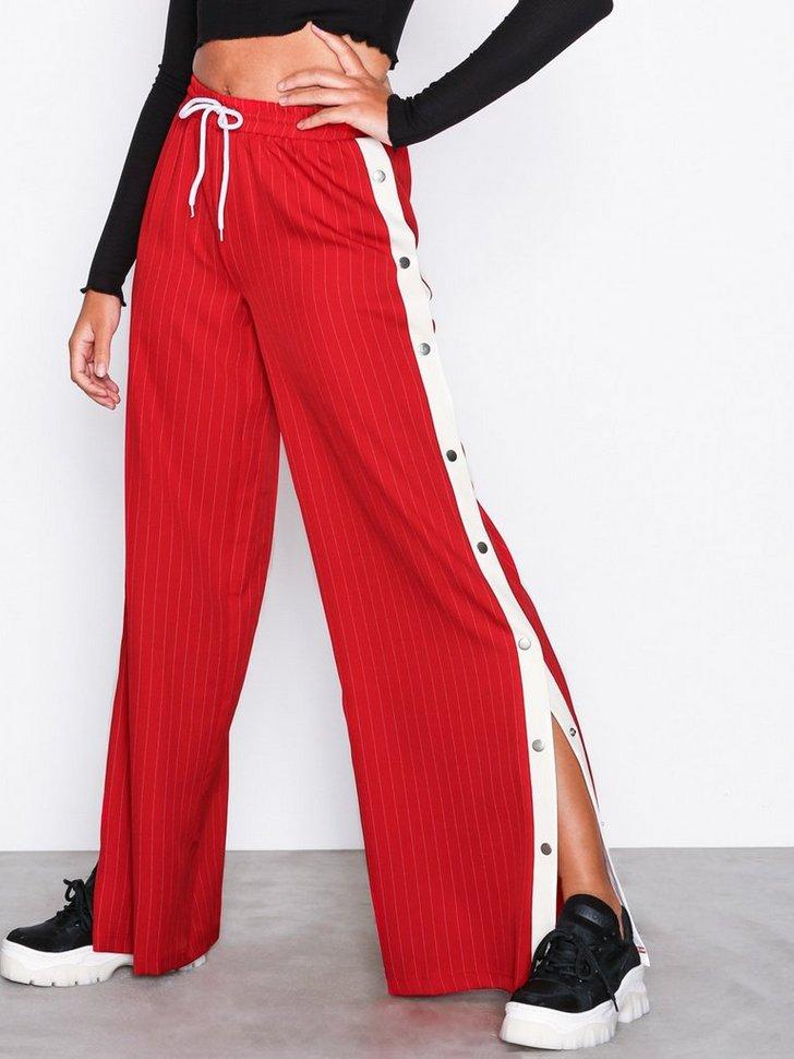 Pinstripe Popper Leg Trousers
