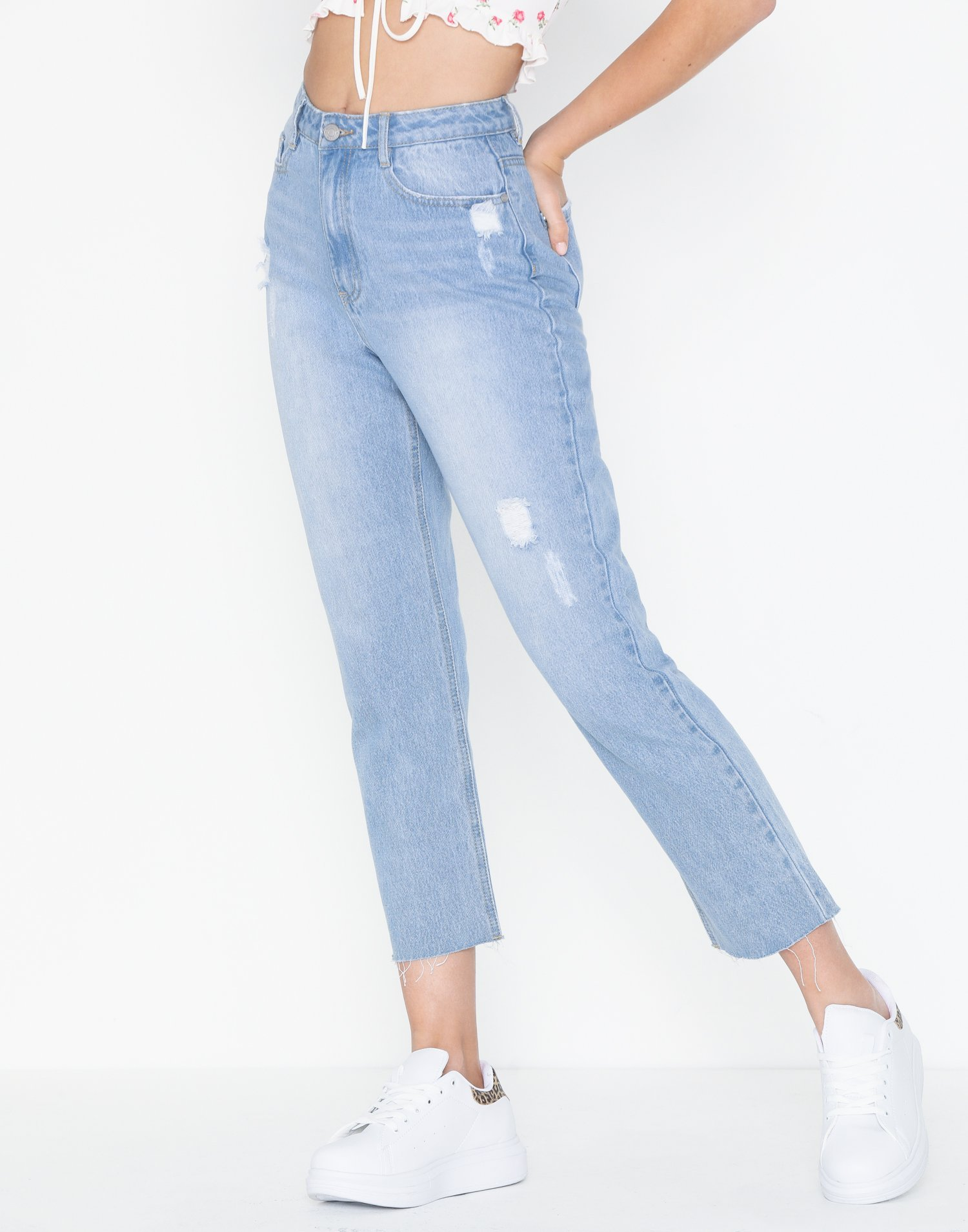 Wrath Cut Hem Distressed Jeans by Missguided
