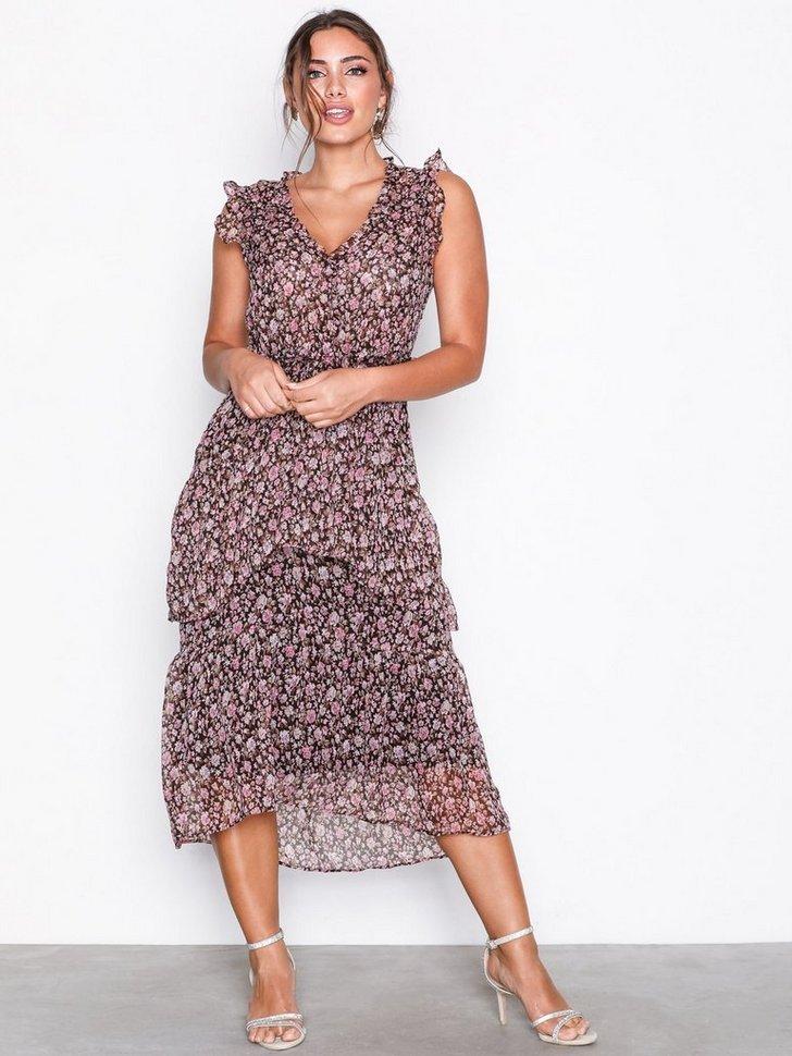 Selma Printed Dress køb festkjole