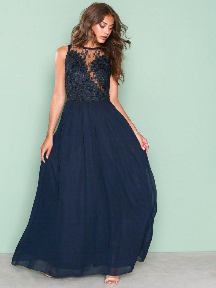 Lace Detail Dress køb festkjole