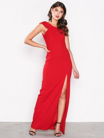Ax Paris - Cross Bardot Maxi Dress