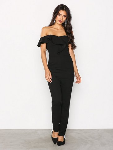Ax Paris - Off shoulder Frill Jumsuit