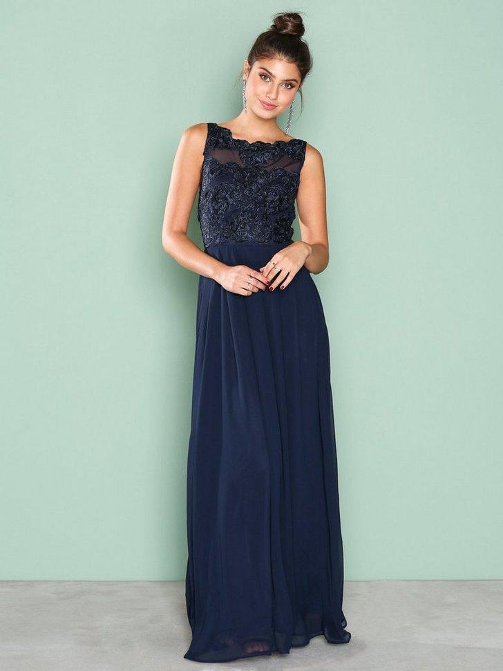 Upper Lace Maxi Dress køb festkjole