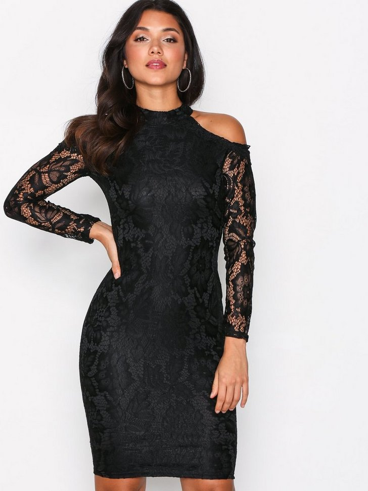 Cold Shoulder Lace Dress køb festkjole