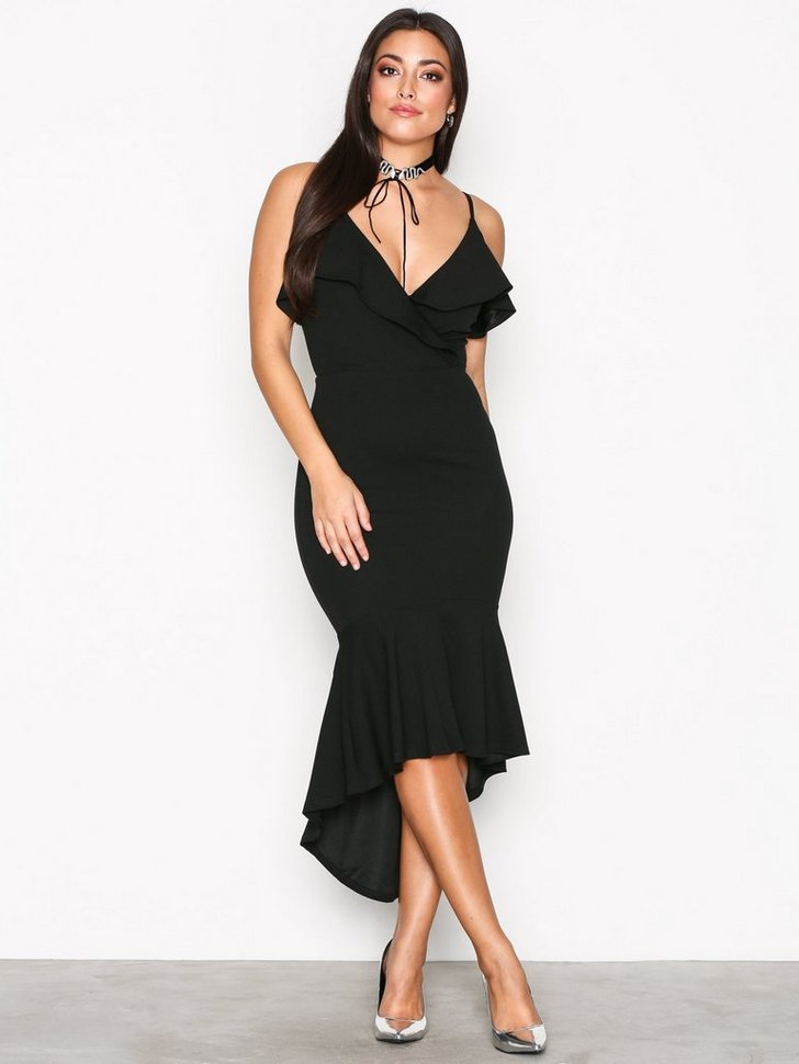 Thin Strap Frill Dress