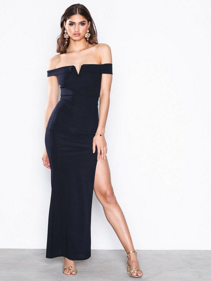 Festkjole Bardot Maxi Dress festtøj