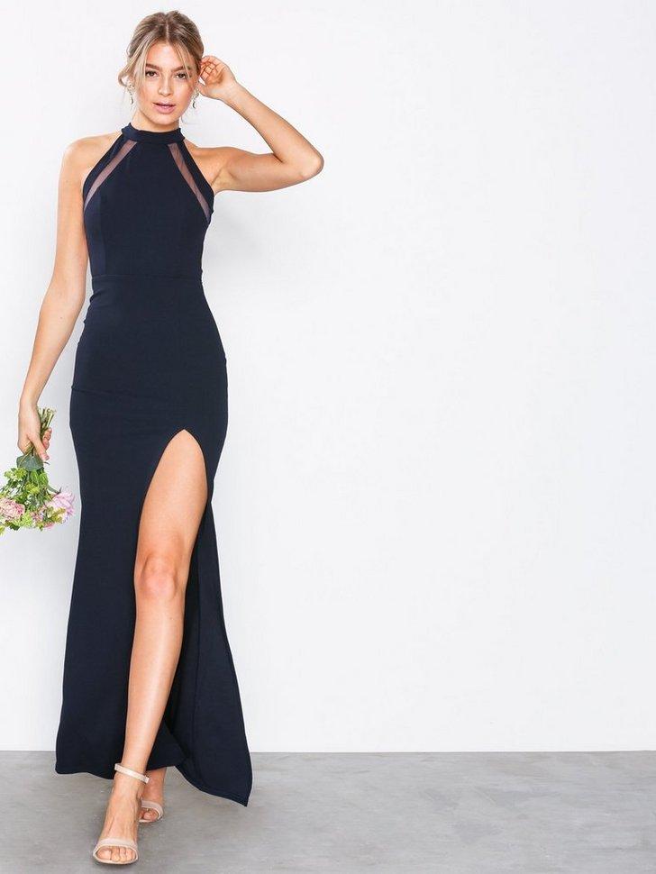 Halter Neck Maxi Dress køb festkjole