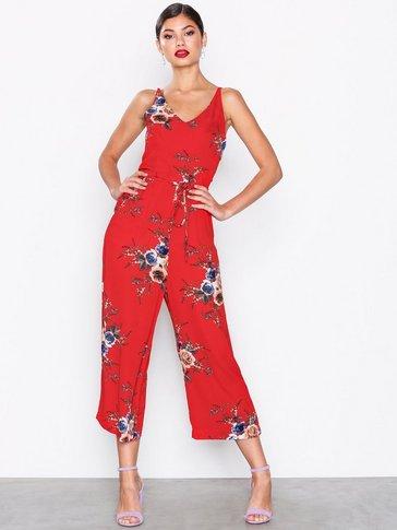 Ax Paris - Strappy Floral Jumpsuit