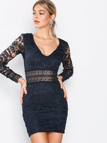 Ax Paris - Long Sleeve Lace Dress