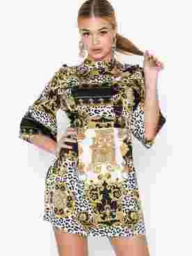 Embellished Skater Dress