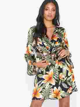Long Sleeve Frill Dress