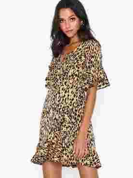 V Neck Leopard Dress