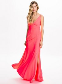 Triangle Maxi Dress Club L Neon Pink Party Dresses #0: 2481 $categorypage XXS$