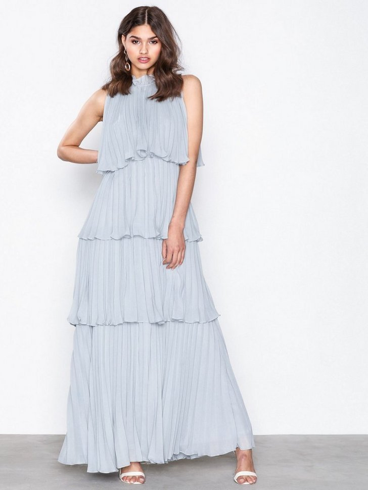 High Neck Frill Dress køb festkjole