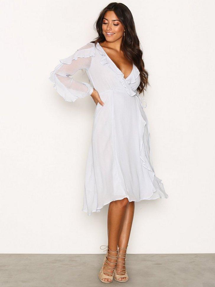 Festkjole LS Wrap Frill Dress festtøj