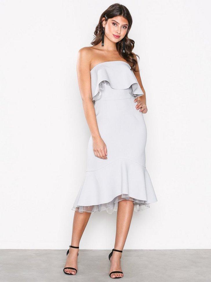 Gallakjole festkjole Off Shoulder Frill Dress festtøj