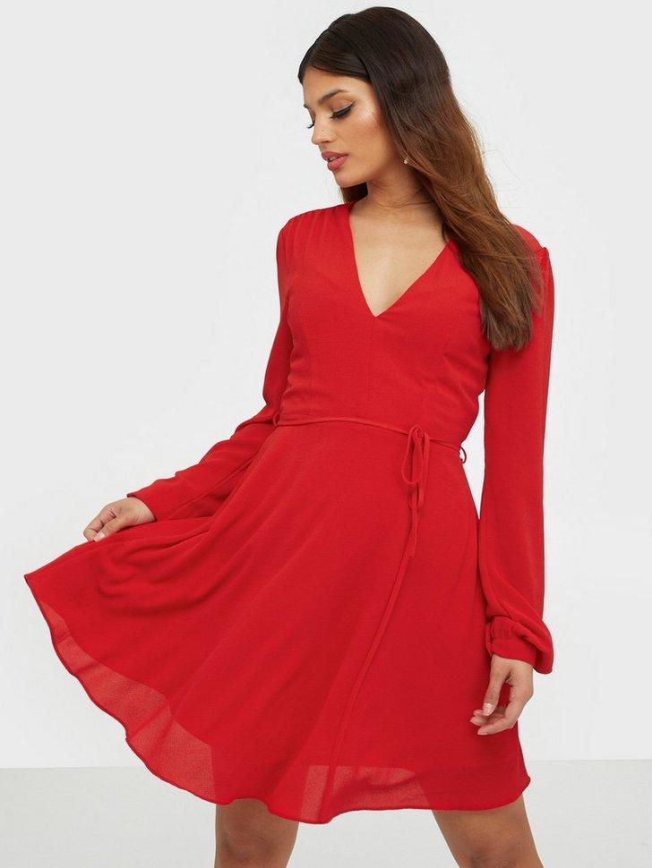Long Sleeve Flounce Dress