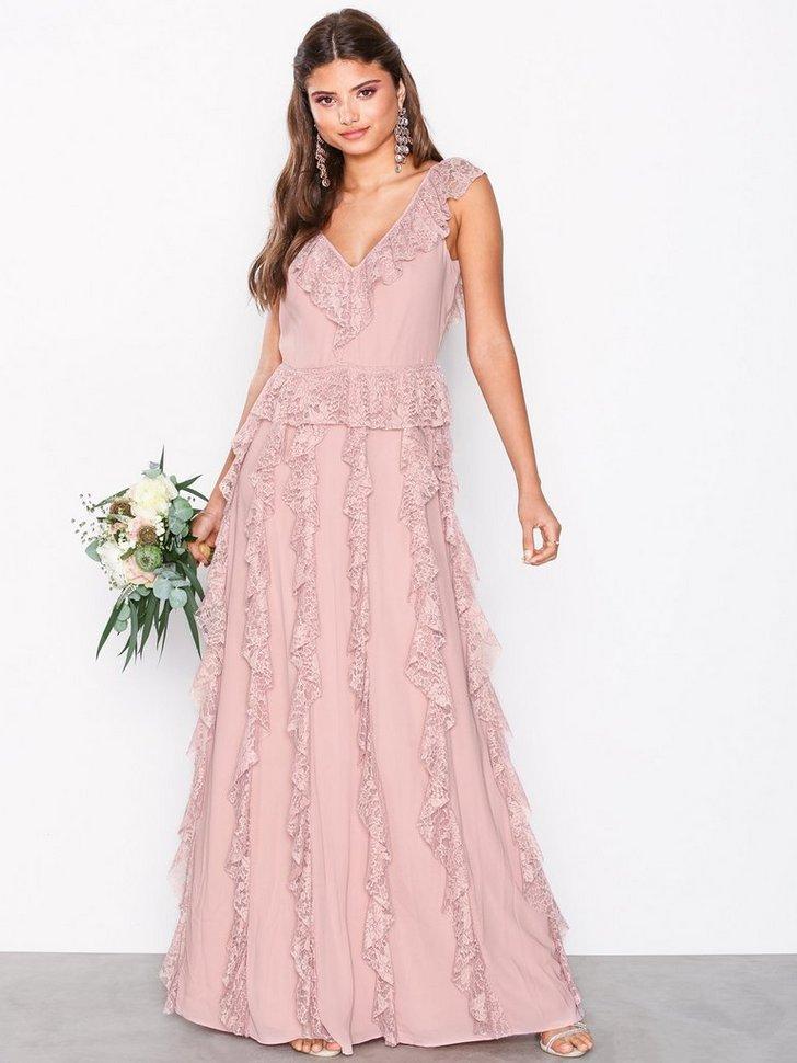 Short Sleeve Frill Dress køb festkjole