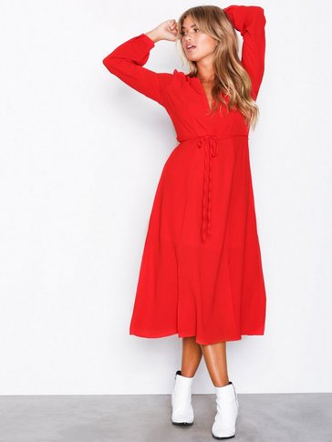 Glamorous - Long Sleeve Midi Dress