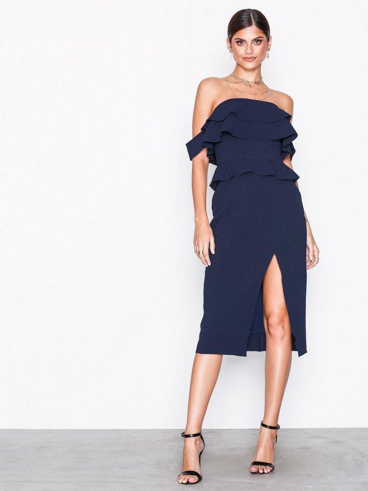 Bandeau Frill Dress køb festkjole