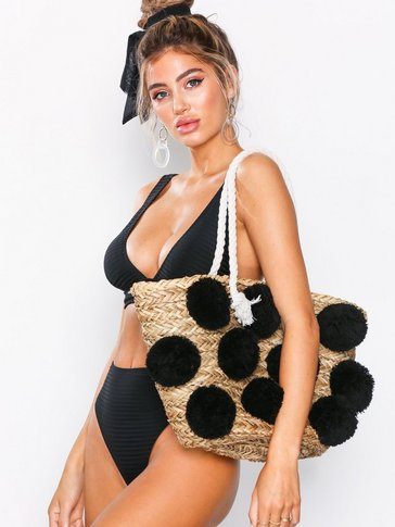 Glamorous - Ladies Pom Pom Bag