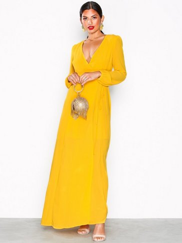 Glamorous - Long Sleeve Flounce Midi Dress