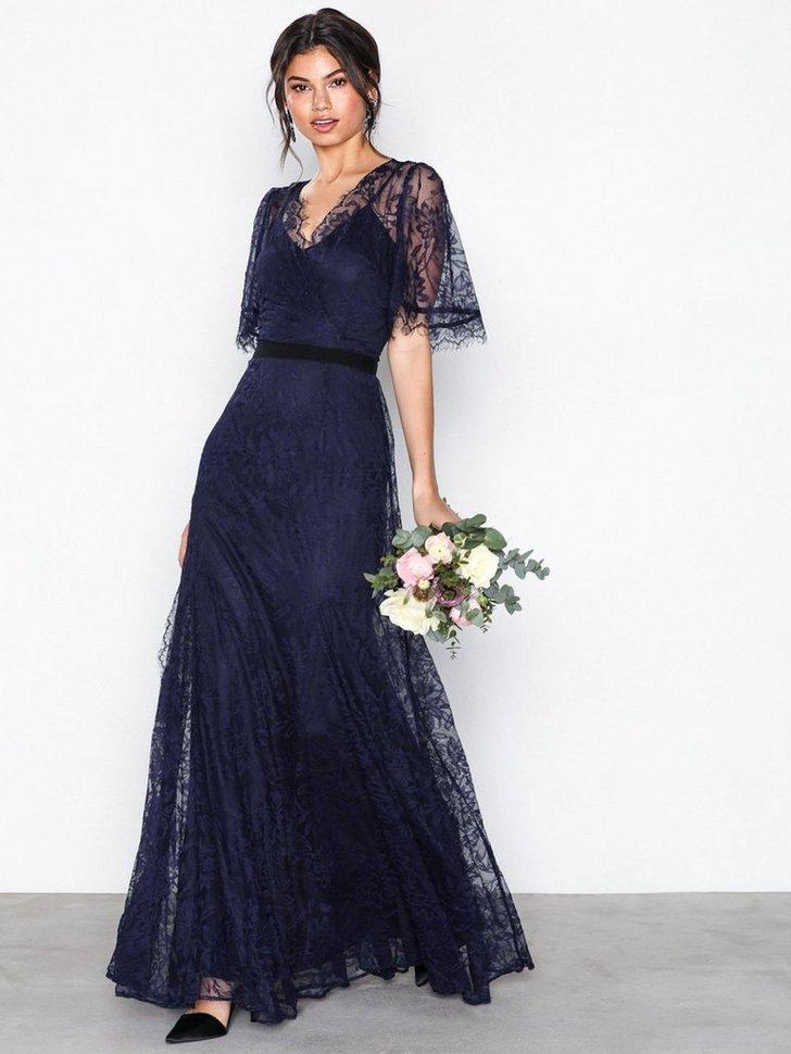 Lace Detail Maxi Dress køb festkjole