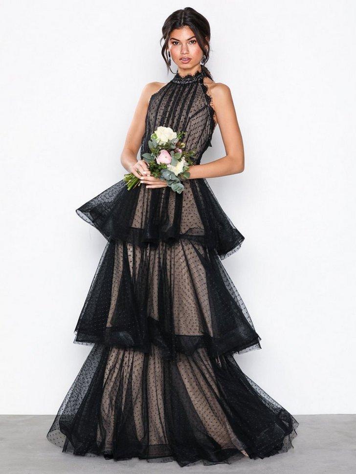 Festkjoler Frill Mesh Maxi Dress - festtøj mode
