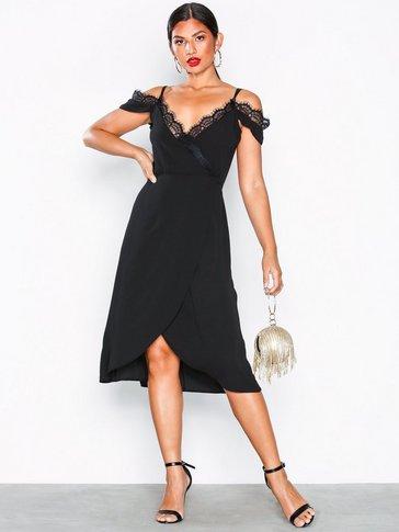 U Collection - Cold Shoulder Midi Dress