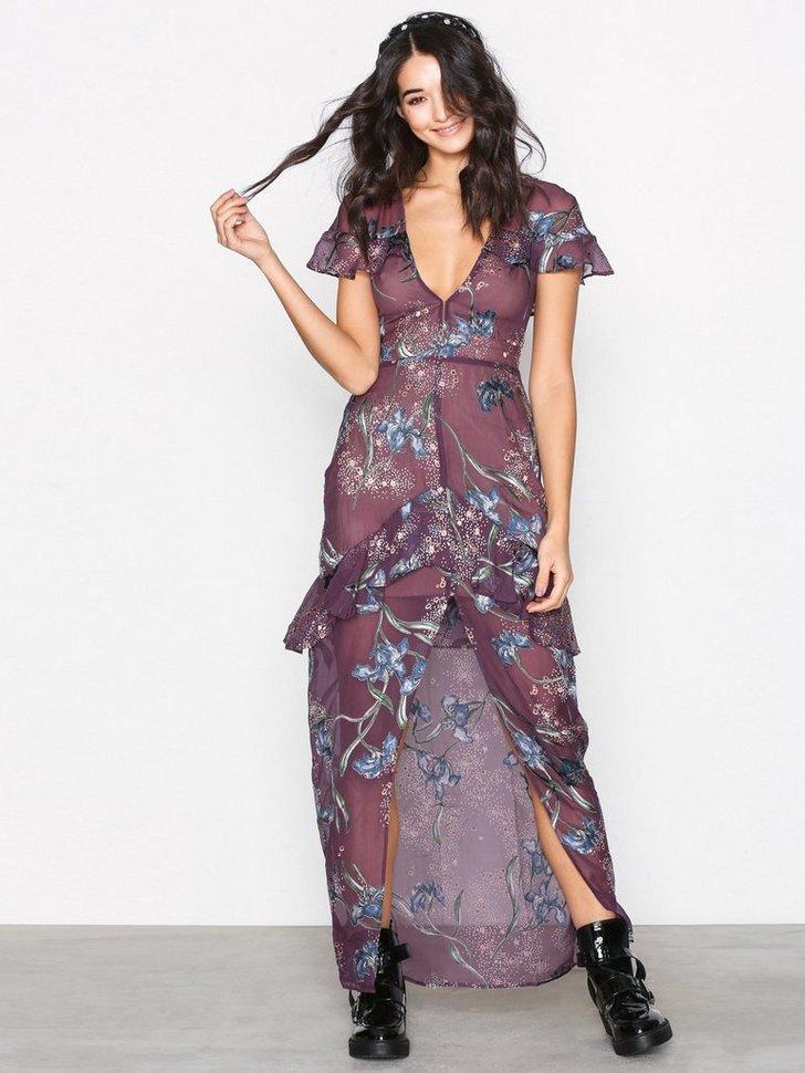 Cleo Floral Maxi Dress køb festkjole