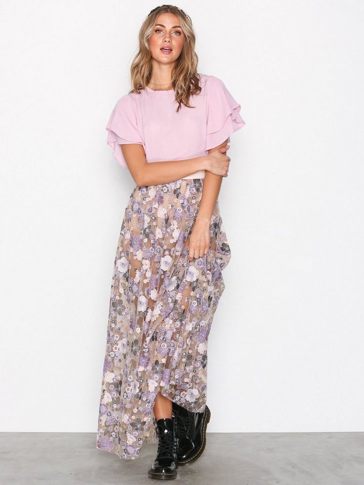 Posy Embroidery Maxi Skirt