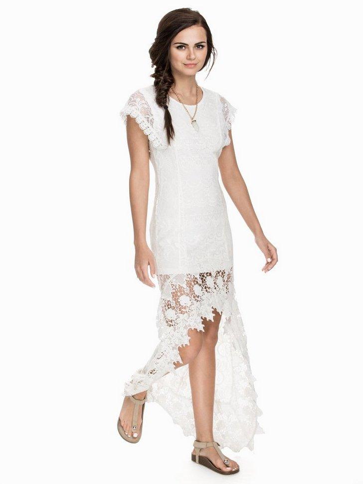 Long Back Lace Dress køb festkjole