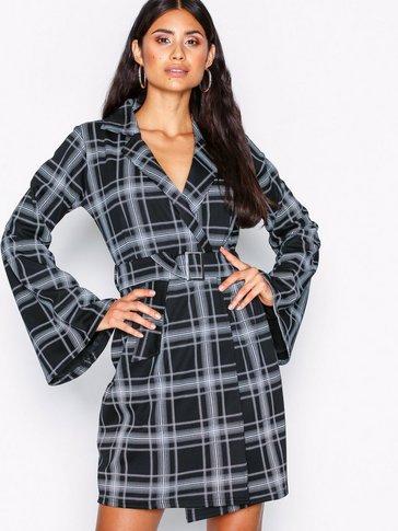 NLY Trend - Blazer Kimono Check Dress