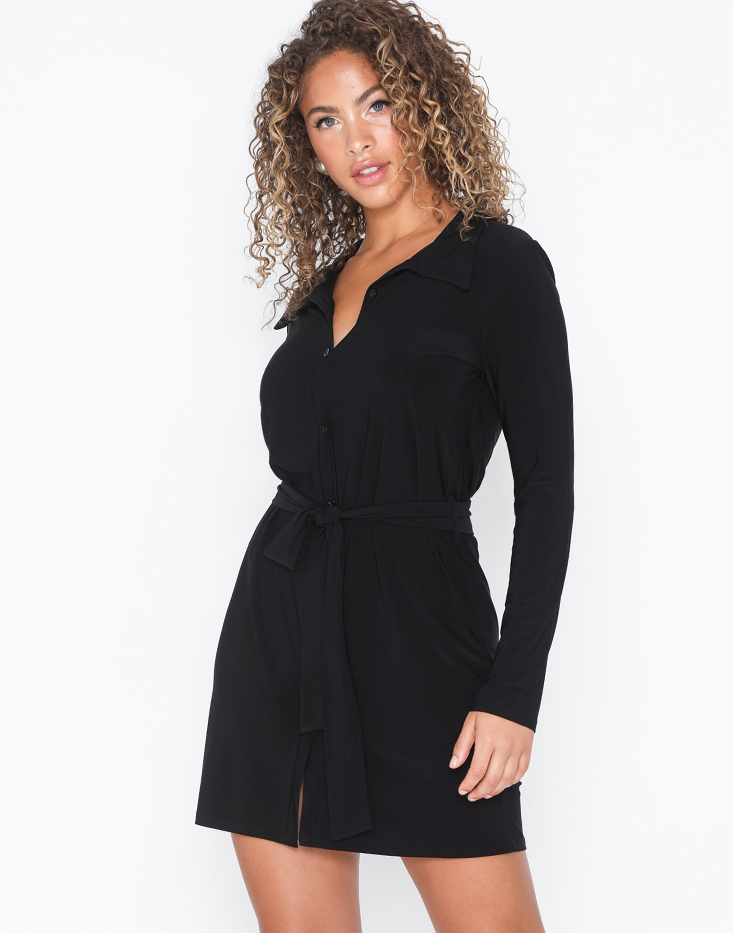 Tie Shirt Dress by Nly Trend
