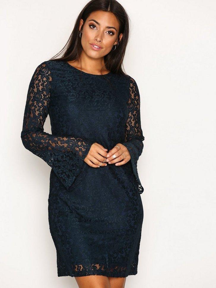 Mystery Wide Sleeve Dress køb festkjole